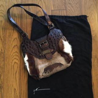 ジュゼッペザノッティ(GIUZEPPE ZANOTTI)のジュゼッペザノッティ 美品ハラコ高級バッグ(ショルダーバッグ)