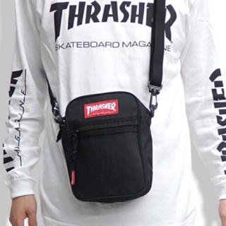 スラッシャー(THRASHER)の新品未使用 THRASHER スラッシャー バッグ ショルダーバッグ 黒 赤(ショルダーバッグ)