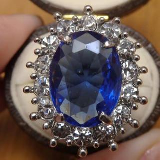 即購入OK*ブルーストーンゴージャスリング指輪02(リング(指輪))