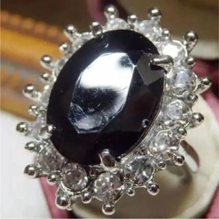 即購入OK*ブラックストーンゴージャスリング指輪(リング(指輪))