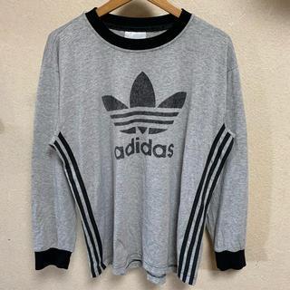 アディダス(adidas)の90s adidas ロンT 長袖 Tシャツ 古着 ビンテージ トレフォイルロゴ(Tシャツ/カットソー(七分/長袖))