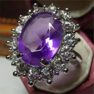 即購入OK*パープルストーンゴージャスリング指輪(リング(指輪))