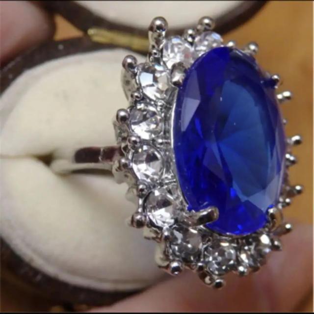 即購入OK*ブルーストーンゴージャスリング指輪01 レディースのアクセサリー(リング(指輪))の商品写真