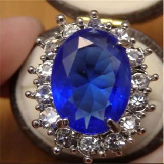 即購入OK*ブルーストーンゴージャスリング指輪01(リング(指輪))