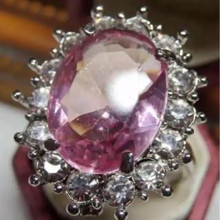 即購入OK*ライトピンクストーンゴージャスリング指輪(リング(指輪))