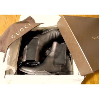 グッチ(Gucci)のGUCCIサイドゴアブーツ黒EU6.5.25cm(ブーツ)