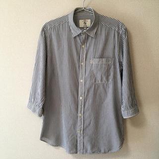 エーグル(AIGLE)のエーグル ストライプシャツ 7分丈 Mサイズ(シャツ)