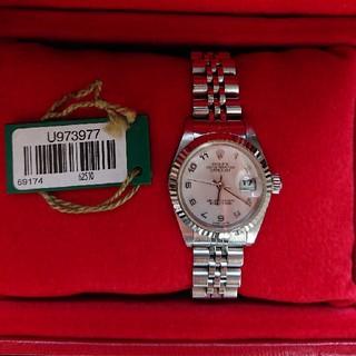 ロレックス(ROLEX)のROLEX レディース ピンクシェル デイトジャスト(腕時計)