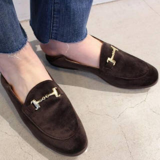 ドゥーズィエムクラス(DEUXIEME CLASSE)の【新品未使用】CAMINAND VELOUR BIT SRIP ON 35(ローファー/革靴)