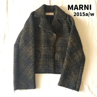 マルニ(Marni)の2015a/w MARNI ツイード ショート コート 38(その他)