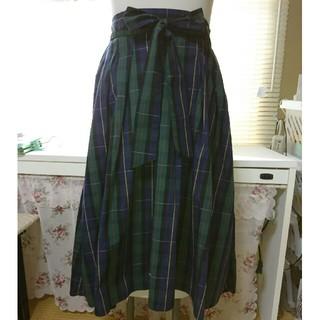 イッカ(ikka)のらん様専用 フレアースカートお値下げしました。(ひざ丈スカート)