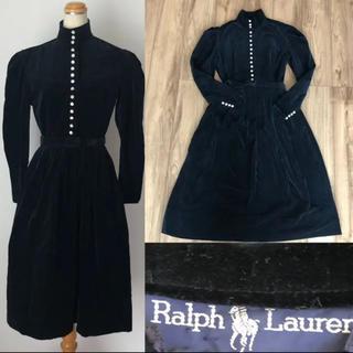 ラルフローレン(Ralph Lauren)のRalph Laurenラルフローレン  乗馬ワンピース シャツワンピース 別珍(ロングワンピース/マキシワンピース)