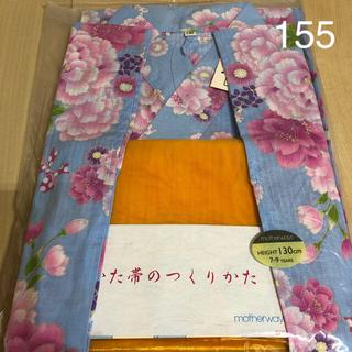 motherways - マザウェイズ 新品 サイズ130cm  浴衣 リボン 花