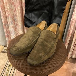 サンローラン(Saint Laurent)のYSL イヴ・サンローラン ローファードレスシューズ 革靴 スエード(ドレス/ビジネス)