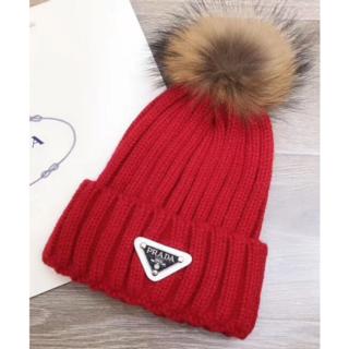 プラダ(PRADA)のPRADA プラダ レディースニット帽(ニット帽/ビーニー)