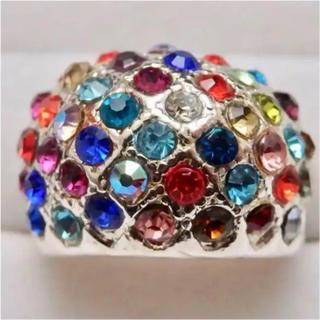 即購入OK*訳ありカラフルパヴェリングゴージャスピンクゴールド指輪大きいサイズ(リング(指輪))