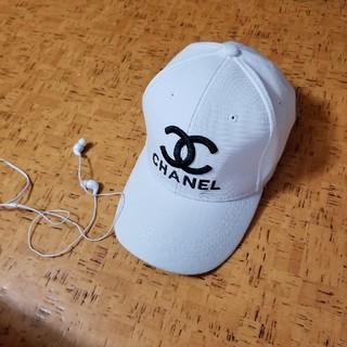 シャネル(CHANEL)の今だけ5000お値下げ夜には戻します。CHANELキャップ白(キャップ)
