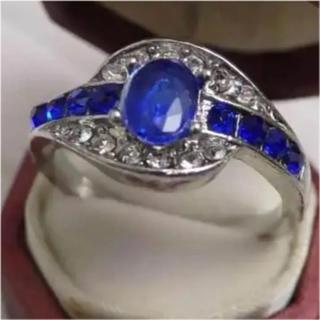 即購入OK*サファイアのようなアンティーク調リング指輪大きいサイズ(リング(指輪))
