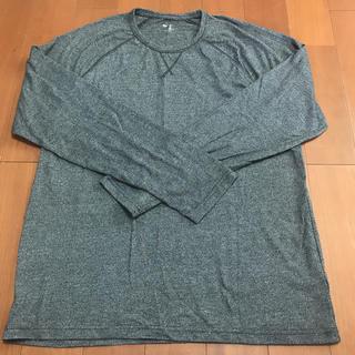 ギャップ(GAP)のギャップ メンズ カットソー ロンT トップス グレー L(Tシャツ/カットソー(七分/長袖))