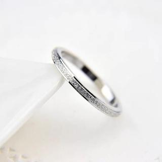 キラキラステンレスリング シンプル ピンキーリング シルバー(リング(指輪))