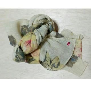 フォーティーファイブアールピーエム(45rpm)の購入申請あり 専用品 45R インディゴ花柄ストール 日本製(ストール/パシュミナ)