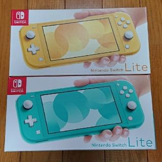 ニンテンドースイッチ(Nintendo Switch)のSwitch lite ターコイズ イエロー 新品未開封 (家庭用ゲーム機本体)