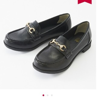 シマムラ(しまむら)のプチプラのあや Sサイズ プチクロコビット付ローファー(ローファー/革靴)