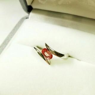 GEMCEREY パパラチアサファイアPt900リング 8号 鑑別書付(リング(指輪))