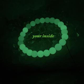 ルミナスストーン 夜光石 8〜8.5㎜ ブレスレット(ブレスレット/バングル)