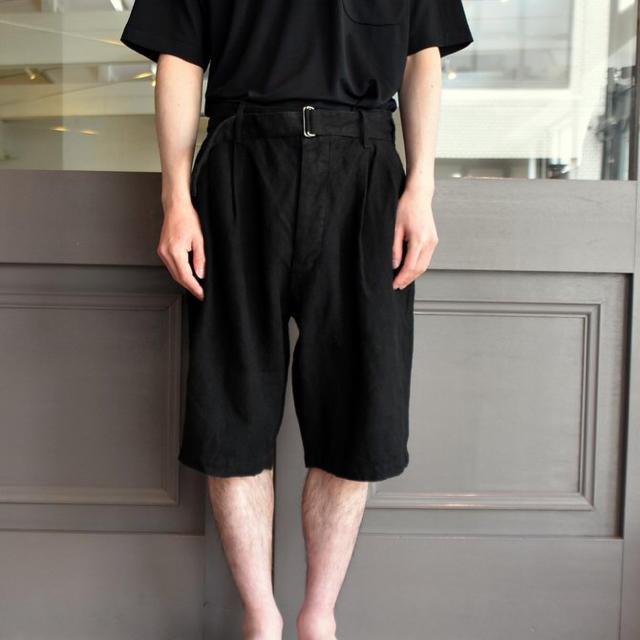 COMOLI(コモリ)の19ss comoli サイズ2 カナパベルテッドショーツ ブラック コモリ メンズのパンツ(チノパン)の商品写真