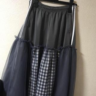 アディダス(adidas)のamatunal リメイクスカート(ロングスカート)