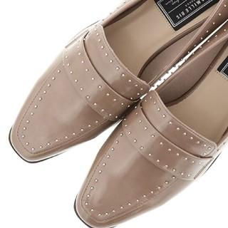 ランダ(RANDA)のRANDA スタッズスクエア厚底ローファー(ローファー/革靴)