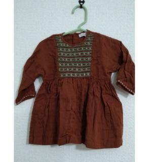 キャラメルベビー&チャイルド(Caramel baby&child )のcaramel 刺繍ワンピース (ワンピース)