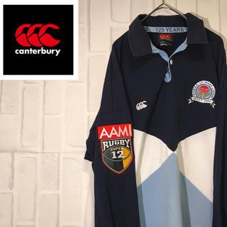 カンタベリー(CANTERBURY)の【激レア】90s カンタベリー 125周年 ワンポイントロゴ  ビックサイズ(ポロシャツ)