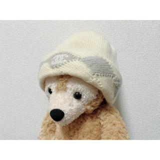 シャネル(CHANEL)のCHANEL ニット帽 ビーニー 正規品 シャネル 帽子 ココマーク カシミア(ニット帽/ビーニー)