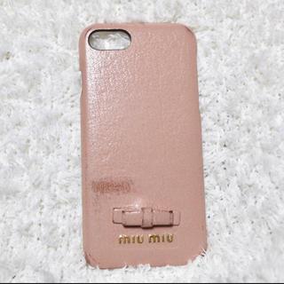 ミュウミュウ(miumiu)の【増税前セール】miumiu iPhone8ケース(iPhoneケース)