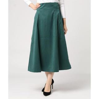 ナチュラルクチュール(natural couture)のnatural couture ハイウエストスエードフレアスカート(ロングスカート)