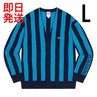 シュプリーム(Supreme)のLサイズ Supreme®/LACOSTE Stripe Cardigan(カーディガン)