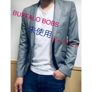 BUFFALO BOBS - 未使用●BUFFALO BOBS●ジャケット●グレー●アウター●ネックチェーン