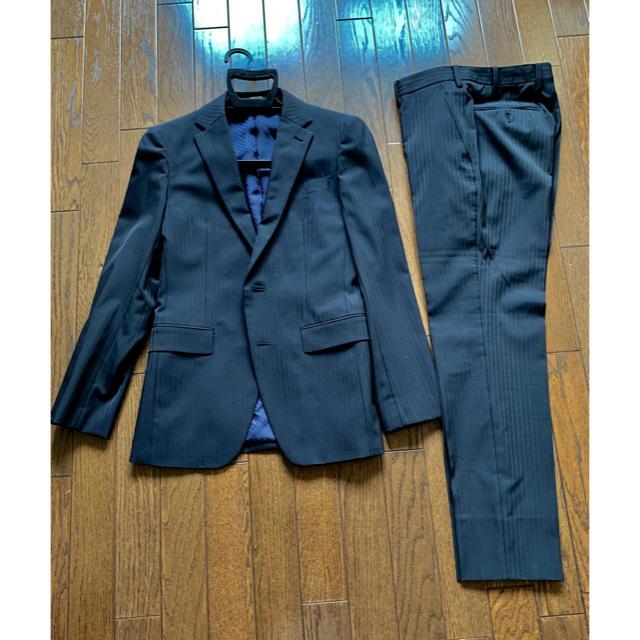 COMME CA MEN(コムサメン)のCOMME CA MENコムサメンポリストシャドーストライプセットアップスーツ メンズのスーツ(セットアップ)の商品写真