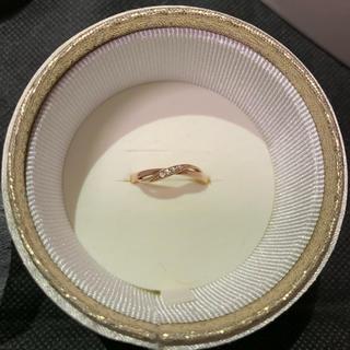ヨンドシー(4℃)の4℃ リング ピンクゴールド ダイヤモンド!ガラスケース入り 保証書あり!(リング(指輪))