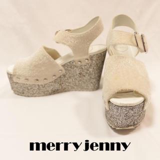 メリージェニー(merry jenny)のmerry jenny 厚底サンダル シルバーラメウェッジソール(サンダル)