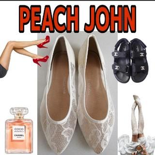 ピーチジョン(PEACH JOHN)のPEACH JOHN 4298円⇒1380円 レースパンプス ホワイト送料無料 (ハイヒール/パンプス)