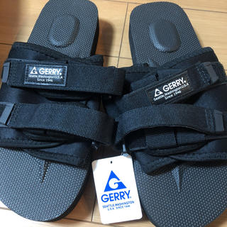 GERRY - 新品 メンズ GERRY ジェリー 軽量 2ベルト サンダル 黒 26.0