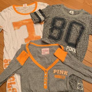 ヴィクトリアズシークレット(Victoria's Secret)のPINK Tシャツ セット売り 美品(Tシャツ(半袖/袖なし))