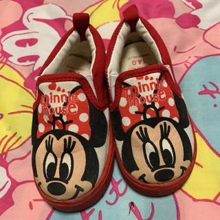ディズニー(Disney)のミニーちゃんスリッポン 14cm(スリッポン)
