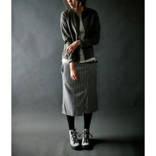 アンティカ(antiqua)のアンティカ antiqua スカート ストライプスカート(ひざ丈スカート)