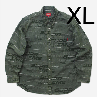 シュプリーム(Supreme)のsupreme Dimensions Logo Denim Shirt XL(シャツ)