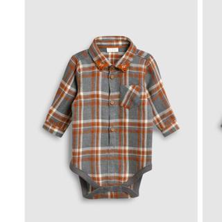 ネクスト(NEXT)のnext baby チェック柄シャツ シャツの襟に鹿のお顔あり(シャツ/カットソー)
