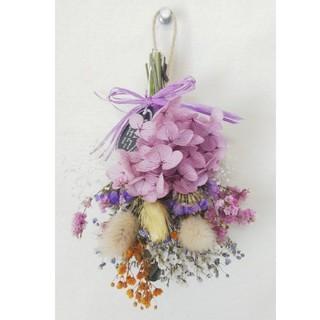 Halloween mini swag(natural purple)(ドライフラワー)